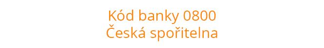 Kód banky 0800