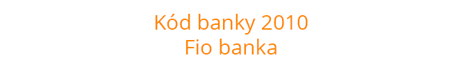 Kód banky 2010