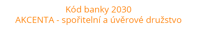 Kód banky 2030