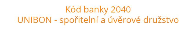 Kód banky 2040