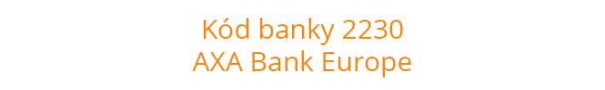Kód banky 2230