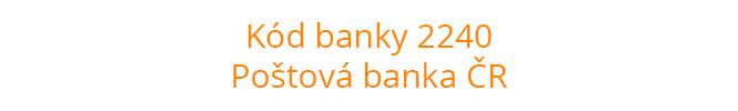 Kód banky 2240