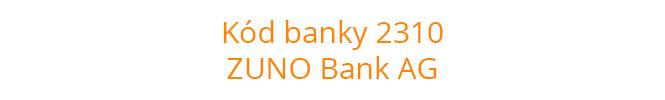 Kód banky 2310