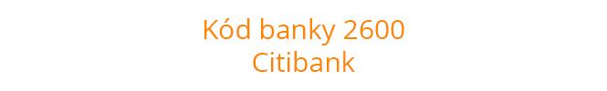 Kód banky 2600