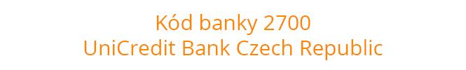 Kód banky 2700