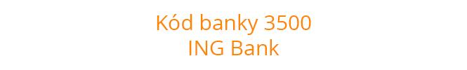 Kód banky 3500