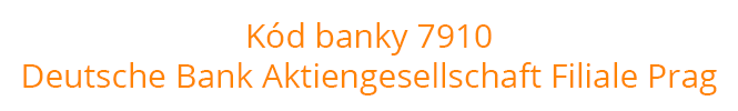 Kód banky 7910
