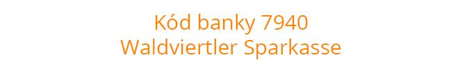 Kód banky 7940