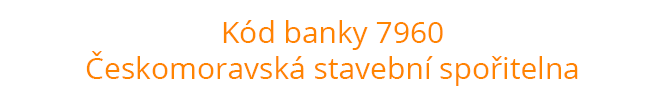 Kód banky 7960