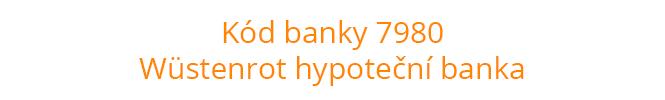 Kód banky 7980