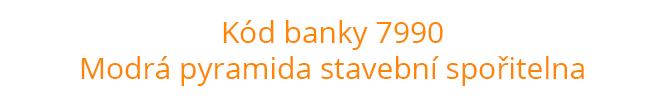 Kód banky 7990