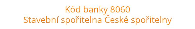 Kód banky 8060