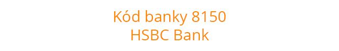 Kód banky 8150