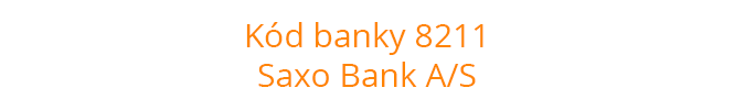 Kód banky 8211
